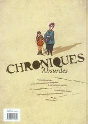 Chroniques absurdes t.1 ; un monde délirant - 4ème de couverture - Format classique