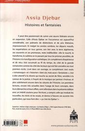 Assia djebar ; histoires et fantaisies - 4ème de couverture - Format classique