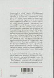 Nietzsche ; cahiers posthumes t.3 - 4ème de couverture - Format classique
