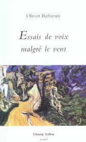 Essais De Voix Malgre Le Vent - Intérieur - Format classique