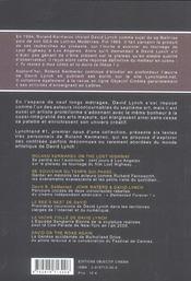 Lynchland #1. Pérégrinations A Travers Les Territoires De David Lynch, Des Longues Routes Perdues Aux Célèbres Avenues, Des Autoroutes Numérique - 4ème de couverture - Format classique