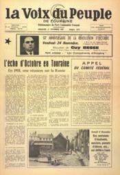 Voix Du Peuple De Touraine (La) N°1372 du 12/11/1967 - Couverture - Format classique