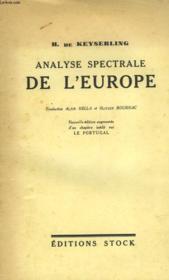 Analyse Spectrale De L'Europe - Das Spektrum Europas - Couverture - Format classique