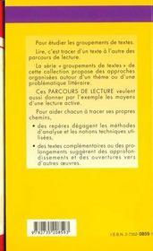 Musique Et Litterature - Parcours De Lecture - 4ème de couverture - Format classique