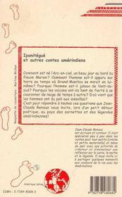 Ipanitegue Et Autres Contes Amerindiens - 4ème de couverture - Format classique