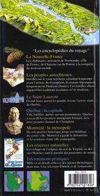 Quebec (Montreal, Estrie, Laurentides, Trois-Rivieres, Charlevo - 4ème de couverture - Format classique