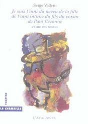 Je Suis L'Ami Du Neveu De La Fille De L'Ami Intime Du Fils Du Voisin De Paul Cezanne - Intérieur - Format classique