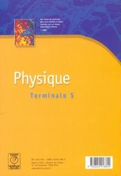 Physique-chimie terminale s - 4ème de couverture - Format classique