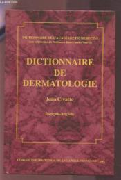 Dictionnaire de dermatologie - Couverture - Format classique