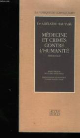 Medecine et crimes contre l'humanite - Couverture - Format classique