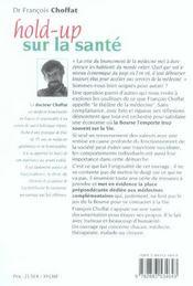 Hold-Up Sur La Sante - 4ème de couverture - Format classique