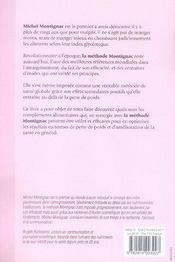 Maigrir à l'aide des compléments alimentaires ; associé à la méthode montignac - 4ème de couverture - Format classique