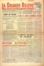 Grande Releve (La) N°88 du 01/06/1951 - Couverture - Format classique
