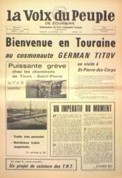 Voix Du Peuple De Touraine (La) N°1374 du 26/11/1967 - Couverture - Format classique
