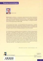Introduction A La Microeconomie L'Etude Des Marches - 4ème de couverture - Format classique