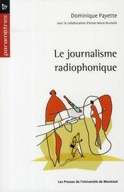 Le journalisme radiophonique - Intérieur - Format classique