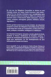 Theorie Et Pratiques Des Obligations Convertibles En Actions Et Des Produits Assimiles - 4ème de couverture - Format classique