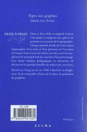 Types Aux Graphies - 4ème de couverture - Format classique