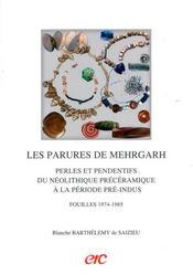 Les parures de mehrgarh : perles et pendentifs du neolithique preceramique a la periode pre-indus ; fouilles 1974-1985 - Intérieur - Format classique