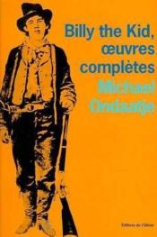Billy The Kid,Oeuvres Completes - Couverture - Format classique