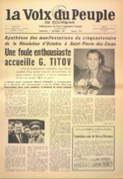 Voix Du Peuple De Touraine (La) N°1375 du 03/12/1967 - Couverture - Format classique