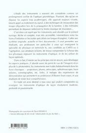Les Instruments D'Optique Etude Theorique Experimentale Et Pratique 2e Edition - 4ème de couverture - Format classique