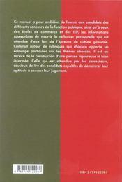 Themes Fondamentaux De Culture Generale Classes Preparatoires Instituts D'Etudes Politiques - 4ème de couverture - Format classique