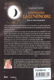 Comprendre La Lune Noire - 4ème de couverture - Format classique