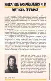 Portugais de France - 4ème de couverture - Format classique