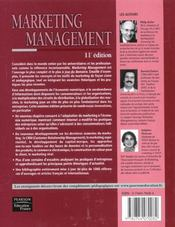 Marketing management - 4ème de couverture - Format classique