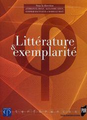 Littérature et exemplarité - Intérieur - Format classique