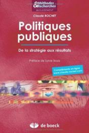 Politiques publiques ; de la stratégie aux résultats - Couverture - Format classique