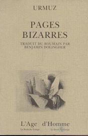 Pages Bizarres - Couverture - Format classique