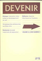 Devenir T.11 N.4/1999 - Intérieur - Format classique