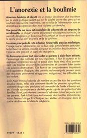 Tout Sav Anorexie Et Boulimie - 4ème de couverture - Format classique