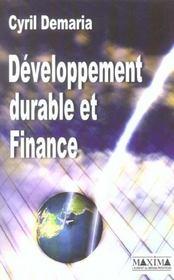 Developpement Durable Et Finance - Intérieur - Format classique