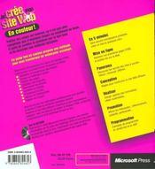 Je Cree Mon Site Web - 4ème de couverture - Format classique