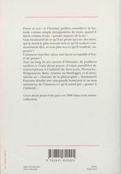 L'Infinitif Des Pensees - 4ème de couverture - Format classique