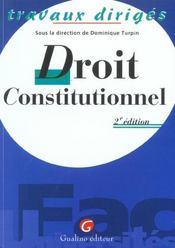 T.D. Droit Constitutionnel - Intérieur - Format classique