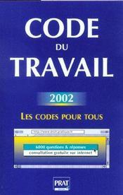 Code Du Travail 2002 - Intérieur - Format classique