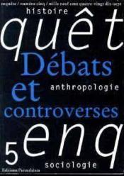 Revue Enquete 05 - Debats Et Controverses - Couverture - Format classique