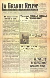 Grande Releve (La) N°90 du 01/07/1951 - Couverture - Format classique