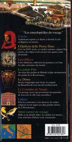Florence (Le Dome, Eglise Santa Maria Novella, Galerie Des Offi - 4ème de couverture - Format classique