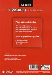 Frisapla, la gentille sorcière ; CP ; guide (édition 2007) - 4ème de couverture - Format classique