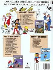 Johan et Pirlouit t.15 ; les troubadours de Roc-à-Pic - 4ème de couverture - Format classique