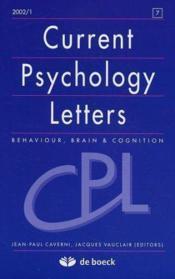 Revue Current Psychology Letters N.7 - Couverture - Format classique