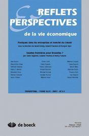 Reflets Et Perspectives De La Vie Economiques 2007/2-3 - Intérieur - Format classique