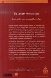De l'écrin au cercueil ; essai sur les contenants au Moyen Âge - 4ème de couverture - Format classique
