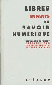 Libres Enfants Du Savoir Numerique - Intérieur - Format classique