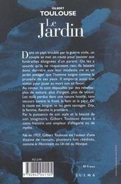 Le Jardin - 4ème de couverture - Format classique